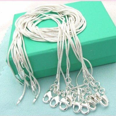 $4.69 • Buy 10PCS Wholesale 1MM 925 Silver Snake Chain Necklace For Pendant Women Jewelry