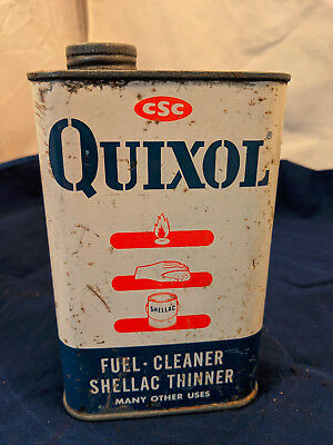 £14.49 • Buy CSC Quixol Fuel Cleaner Shellac Thinner Car Truck 1950s Gas Service Station Tin