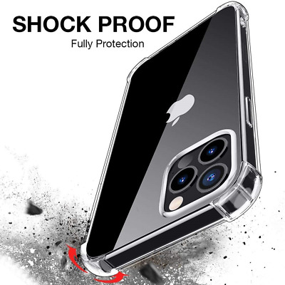 £3.95 • Buy For IPhone 13 12 Pro MAX 7 8  XR XS MAX 11 Shockproof Silicone Clear Case Cover