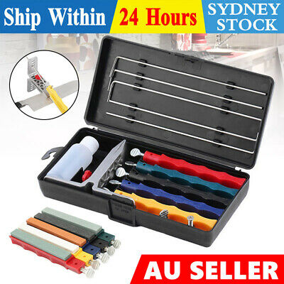 AU29.45 • Buy Professional Wide Kitchen Knife Sharpener Fix-angle Sharpening System 5 Stone