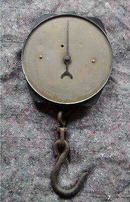 Vintage BUTCHER'S/TRADE  SALTER  SPRING SCALES 235T   400lbs  Brass Face. • 35£