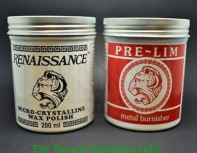 RENAISSANCE WAX & PRE-LIM SURFACE CLEANER TWIN PACK 200ml • 32.03$