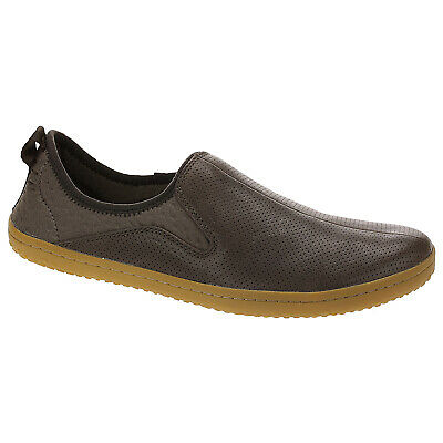 Vivobarefoot Slyde Leather Casual Perforated Low-Top Slip-On Mens Trainers • 109.64£