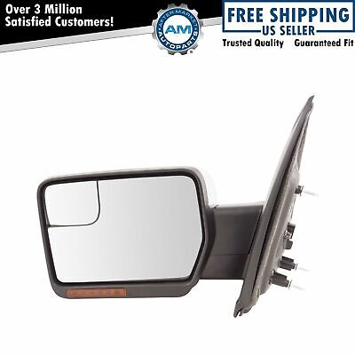 $153.02 • Buy Mirror Power Folding Heated Signal Memory Puddle Chrome Driver Left LH For F150