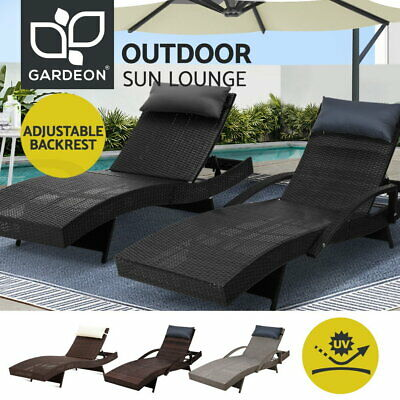 AU339.90 • Buy Gardeon Sun Lounger Wicker Lounge Day Bed Sofa Patio Outdoor Setting Furniture