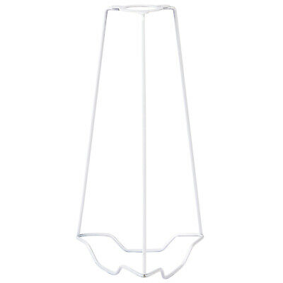 """9"""" Lamp Shade Carrier Holder–Fits 25mm Bulb Lamps–White Steel Fixing Adapter Kit • 14.99£"""