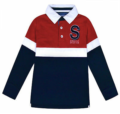 View Details Boys Polo Jumper Top Kids Long Sleeve Cotton School Sweatshirt Top Ages 7-17 Yrs • 4.99£