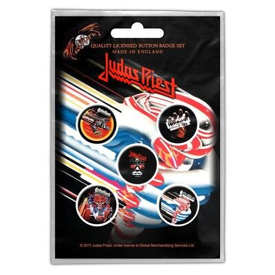 £4.99 • Buy JUDAS PRIEST Turbo: Button Pin Badges 5-BADGE PACK Official Licensed Merch