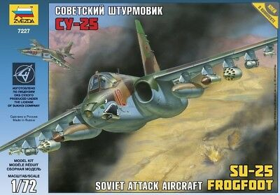 Zvezda 1/72 Soviet Attack Aircraft SU-25 Frogfoot # 7227 • 15.19£