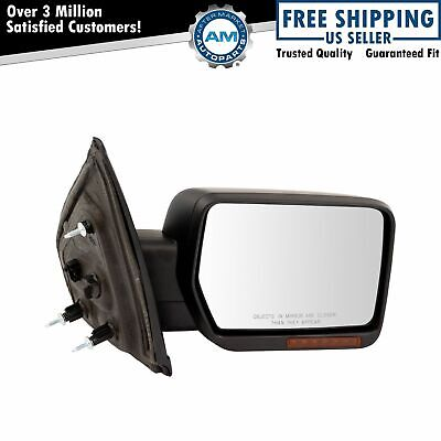 $129.22 • Buy Mirror Power Folding Heated Signal Memory Puddle Smooth Black Right RH For F150