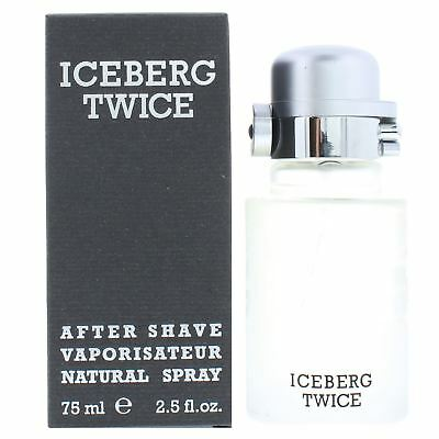 Iceberg Twice Homme After Shave Spray 75ml Men's - NEW. Aftershave For Him • 11.95£