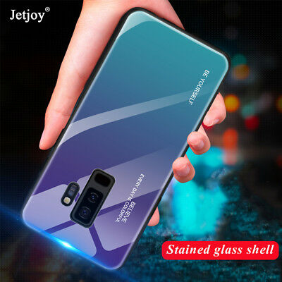 $ CDN3.67 • Buy Luxury Gradient Tempered Glass Hard Case Cover For Samsung Note9 S9 A6 Plus 2018