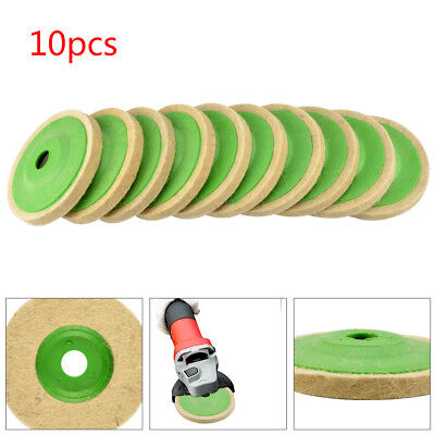 10PCS 100mm 4 Inch Wool Buffing Angle Grinder Wheel Felt Polishing Disc Pad Kit • 6.99£
