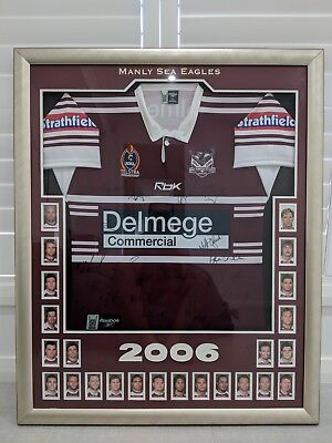 AU359 • Buy Manly Warringah Sea Eagles Signed And Framed 2006 Jersey