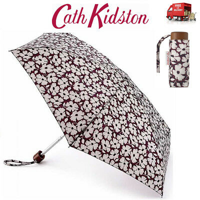 Cath Kidston Stamp Floral Tiny Flat Folding Umbrella Handbag Size Matching Cover • 19.95£