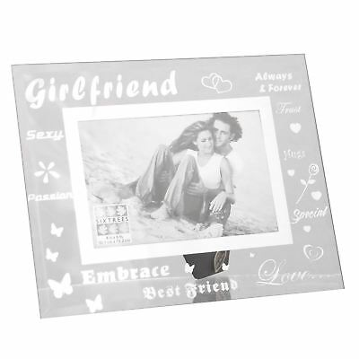 £7.99 • Buy Sixtrees Moments Girlfriend 6 X 4 Picture Photo Frame Bevelled Glass Home Decor