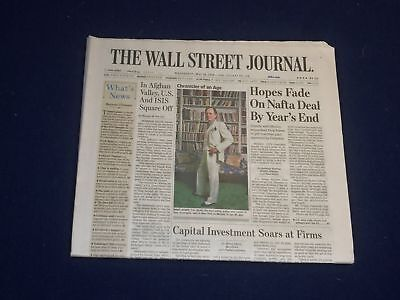 $35 • Buy 2018 May 16 Wall Street Journal Newspaper - Hopes Fade On Nafta Deal By Year End