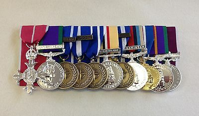 £320 • Buy Court Mounted Full Size Medals, MBE, GSM, NATO, Iraq, Afg, Jubilee, ACSM, LSGC