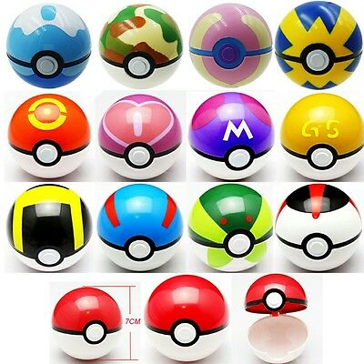 Pokemon Go Pokeball Pop-up 7cm Plastic Ball Toy Action Figure Games • 4.99£