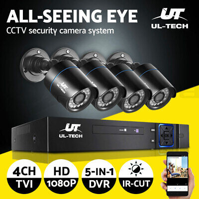 AU149.99 • Buy UL-tech CCTV Security System Home Camera DVR 1080P Outdoor Day Night Long Range