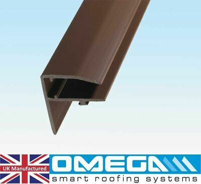 PVC Edge Trim / PVC F-Section For 10mm, 16mm & 25mm Polycarbonate Roofing Sheets • 10.56£
