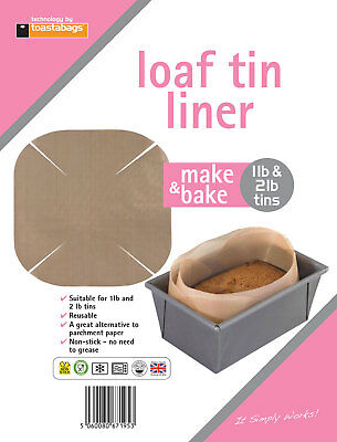 Toastabags Loaf Tin Liner Reusable, Non-stick Baking Cake Dishwasher Safe • 3.29£