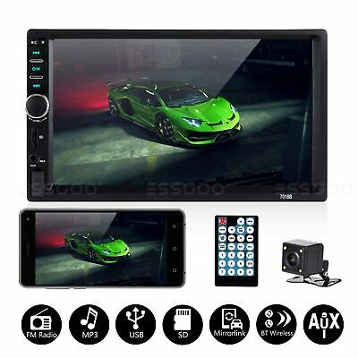 $64.98 • Buy 7  HD Touch Screen Car Stereo Radio 2 DIN MP5 Player AUX BT + Rear View Camera