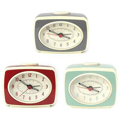 AU31.80 • Buy Small Classic Retro Analogue Alarm Clock Glow In The Dark Hands Battery Operated