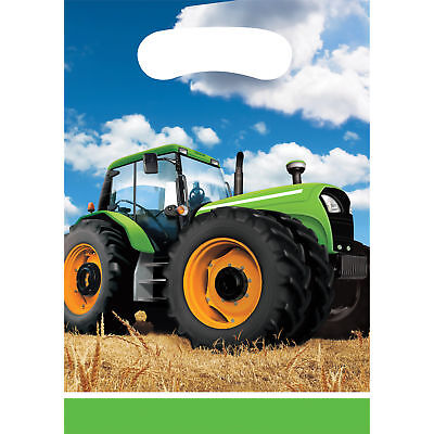 AU3.99 • Buy Tractor Farm Birthday Party Supplies Lolly Loot Treat Bags Pack Of 8