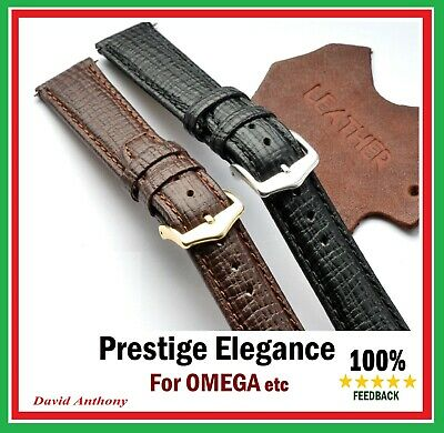 15 17 18 19 20 21 22 PRESTIGE ELEGANCE Fits OMEGA STYLE LEATHER WATCH STRAP + XL • 11.95£