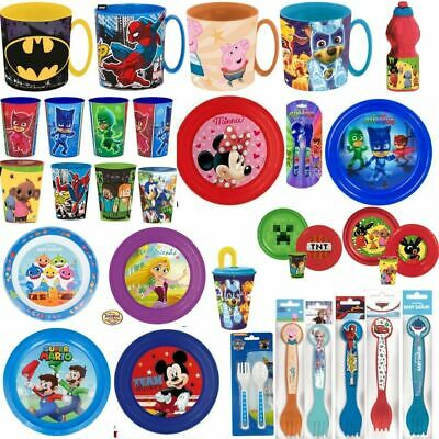 Childrens Toddler Babys  Dinner Sets Plates Cutlery Beakers Bowls Cups Spoons • 2.89£