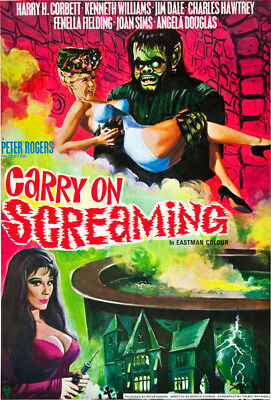 £14.95 • Buy Carry On Screaming Movie Poster T-Shirt Gents Ladies Kids Sizes. Movie Film Gift