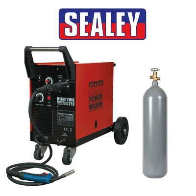 Mig Welder Sealey Mighty Mig 210amp Use With Or Without Gas Gas Bottle Included • 595.10£
