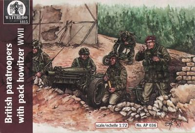 Waterloo 1815 1/72 WWII British Paratroopers With Pack Howitzer # AP036* • 10.41£