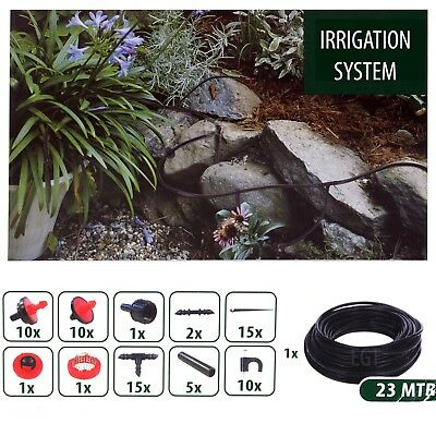 71pc Garden Automatic Micro Drip Irrigation Self Watering Plant System 23m Hose  • 9.49£