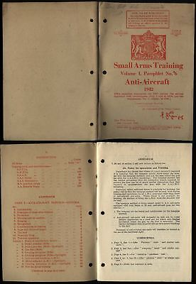 £28 • Buy 1942 WWII Original ANTI-AIRCRAFT, Small Arms Training, Issued By WAR OFFICE