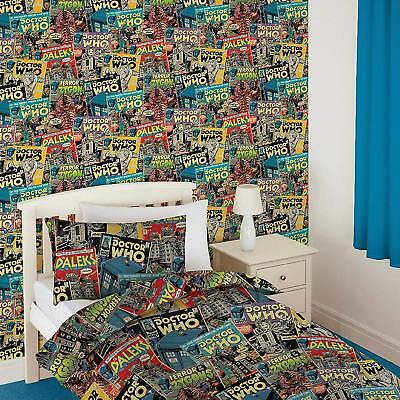 Official Doctor Dr Who Comic Wallpaper Feature Wall Decor New Boys Kids Fans Bed • 9.89£