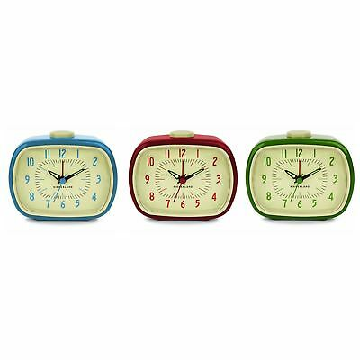 Classic Retro Analogue Alarm Clock Glow In The Dark Hands Battery Operated • 19.75£