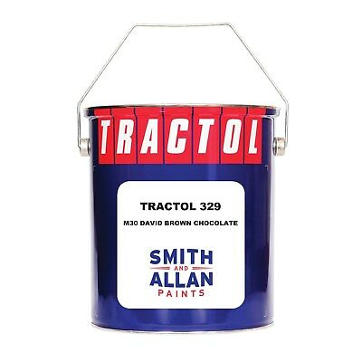 David Brown Chocolate Tractor Paint Machinery Plant Enamel Tractol 5 Litre 5L • 56.50£