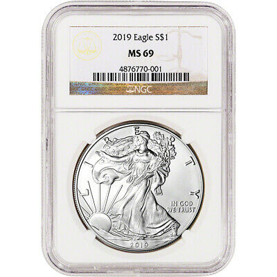 $38.20 • Buy 2019 American Silver Eagle - NGC MS69