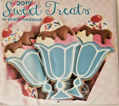 $6.99 • Buy 2019 Wall Calendar - Sweet Treats -16 Month-12x22 Inches