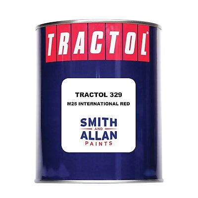 International Red Tractor Paint Machinery Plant Enamel Tractol 1 Litre 1L • 26.50£