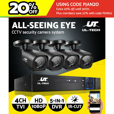 AU149.99 • Buy UL-tech CCTV Security Camera System Home DVR 1080P Outdoor 2MP HD Day Night