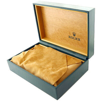 $ CDN165.49 • Buy Rolex Green Leather With Wood Interior Watch Box + Pillow/cloth