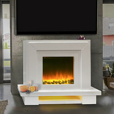 Free Standing Electric Fire Italian Designer Surround Fireplace Flicker Flame • 299.99£