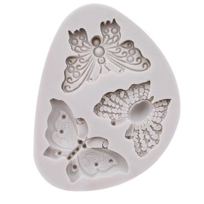 AU4.53 • Buy Silicone Butterfly Shape Mold Cake Fondant Decorating Sugar Craft Mould Tool B