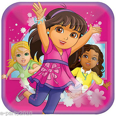 DORA THE EXPLORER AND FRIENDS LARGE PAPER PLATES (8) ~ Birthday Party Supplies • 3.08£