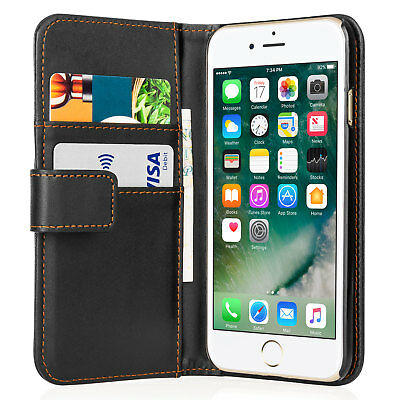 Faux Leather Magnetic Folio Flip Wallet Phone Case Cover For Apple IPhone 7 & 8 • 2.69£