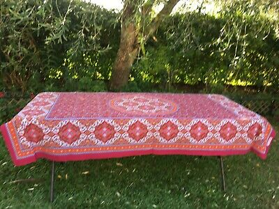 AU28.42 • Buy Table Cloth - Valentines Day Ruby Handmade 200cm X 130cm Flowers