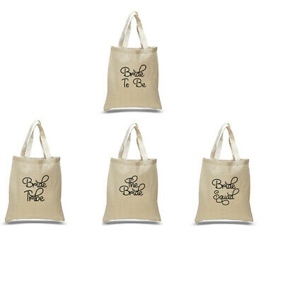 £2.99 • Buy Printed In Black Wedding Party Bridal Tote Bags Bridesmaid Favour Hen Party Bag